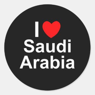 I Love Heart Saudi Arabia Classic Round Sticker