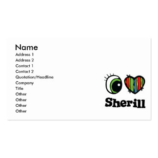 I Love (Heart) Sherill Pack Of Standard Business Cards
