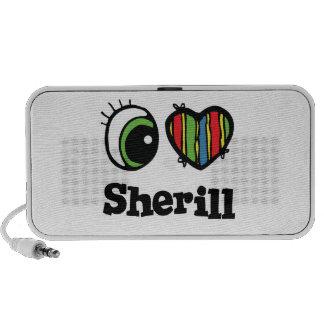I Love (Heart) Sherill Notebook Speakers