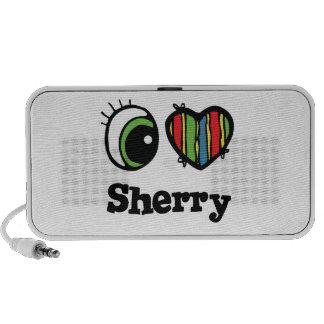 I Love (Heart) Sherry Notebook Speakers