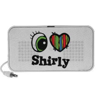 I Love (Heart) Shirly Mini Speakers