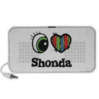 I Love (Heart) Shonda Travel Speaker