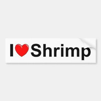 I Love (Heart) Shrimp Bumper Sticker