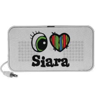 I Love (Heart) Siara Travelling Speaker