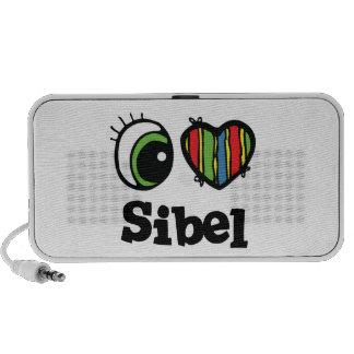 I Love (Heart) Sibel Portable Speaker