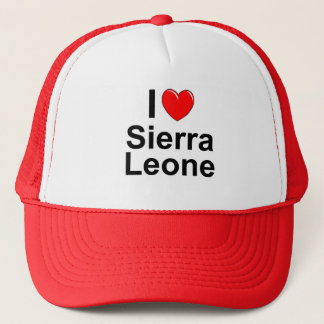 I Love Heart Sierra Leone Trucker Hat