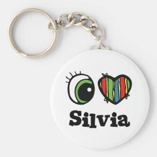 I Love (Heart) Silvia Key Chain