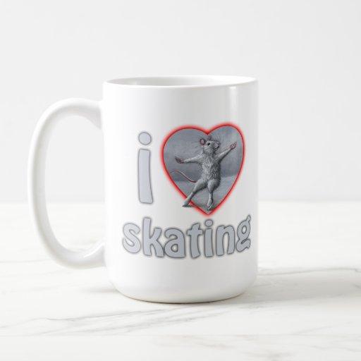 I Love Heart Skating mug