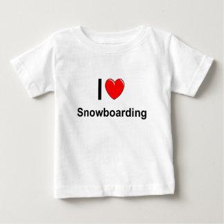I Love Heart Snowboarding Baby T-Shirt
