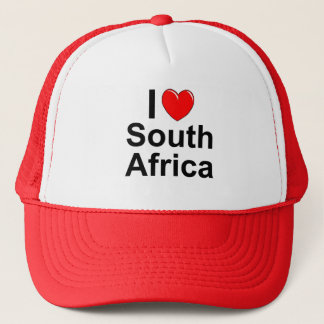 I Love Heart South Africa Trucker Hat