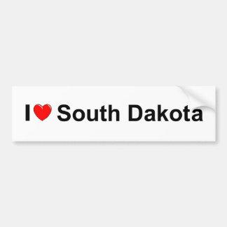 I Love (Heart) South Dakota Car Bumper Sticker