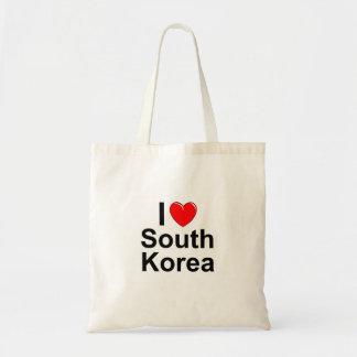 I Love Heart South Korea Tote Bag