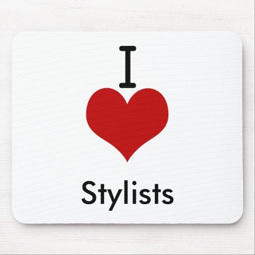 I Love (heart) Stylists Mousepads
