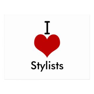 I Love (heart) Stylists Postcard