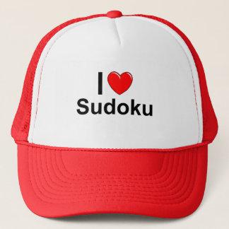 I Love Heart Sudoku Trucker Hat