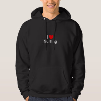 I Love Heart Surfing Hoodie