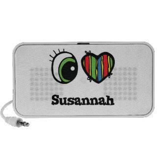 I Love (Heart) Susannah Laptop Speaker