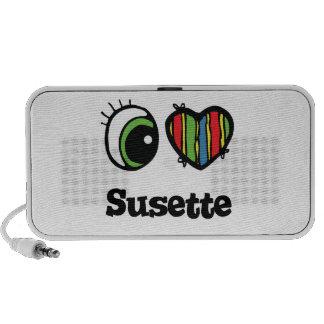 I Love (Heart) Susette PC Speakers