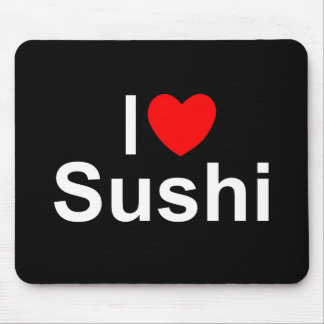 I Love Heart Sushi Mousepads