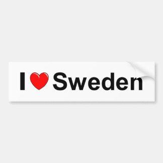 I Love Heart Sweden Bumper Sticker