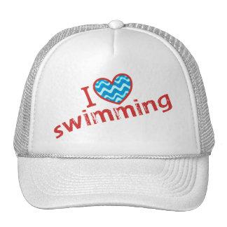 I love (heart) Swimming Cap