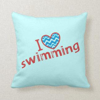 I love (heart) Swimming Cushion