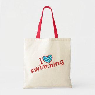 I love (heart) Swimming Tote Bag