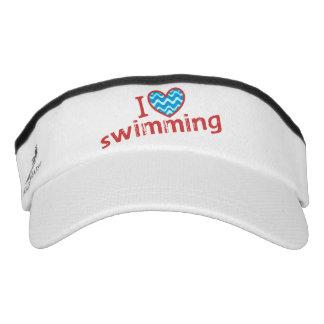 I love (heart) Swimming Visor