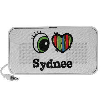 I Love (Heart) Sydnee Laptop Speaker