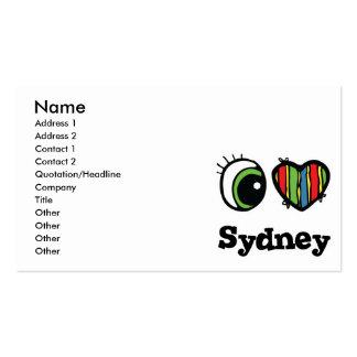 I Love (Heart) Sydney Pack Of Standard Business Cards