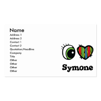 I Love (Heart) Symone Pack Of Standard Business Cards
