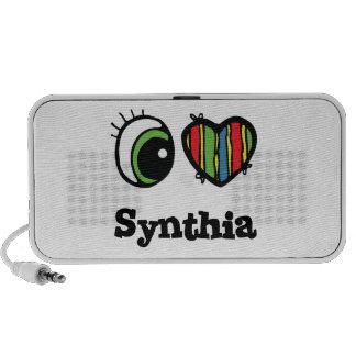 I Love (Heart) Synthia iPod Speakers
