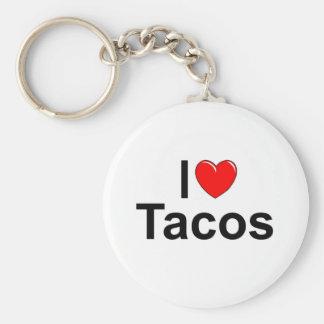 I Love (Heart) Tacos Keychains