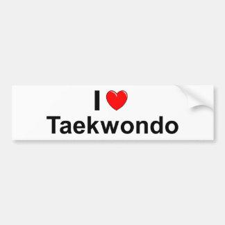 I Love Heart Taekwondo Bumper Sticker