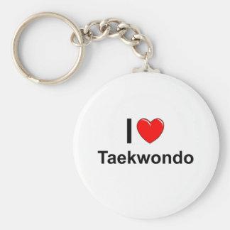 I Love Heart Taekwondo Key Ring