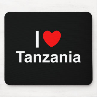 I Love Heart Tanzania Mouse Pad
