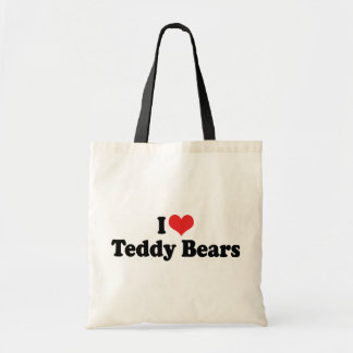 I Love Heart Teddy Bears - Teddy Bear Collector Budget Tote Bag