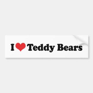I Love Heart Teddy Bears - Teddy Bear Collector Bumper Sticker