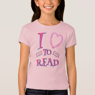 I Love (heart) To Read T-Shirt