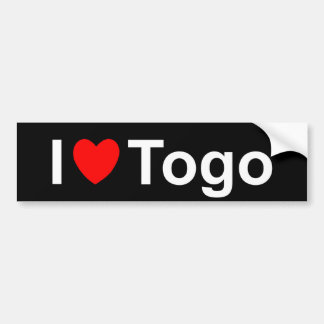 I Love Heart Togo Bumper Sticker