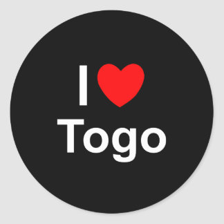 I Love Heart Togo Classic Round Sticker