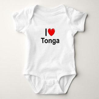 I Love heart Tonga Baby Bodysuit