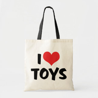 I Love Heart Toys - Toy Collector Lover Budget Tote Bag