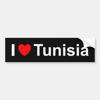I Love Heart Tunisia Bumper Sticker