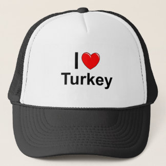 I Love Heart Turkey Trucker Hat