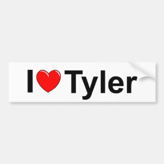 I Love (Heart) Tyler Bumper Sticker
