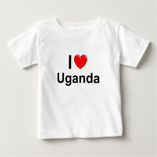 I Love Heart Uganda Baby T-Shirt