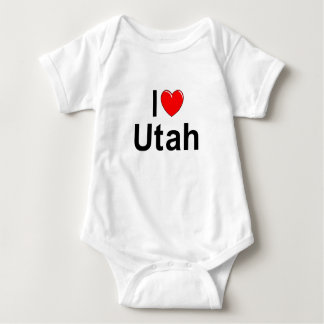 I Love (Heart) Utah Baby Bodysuit