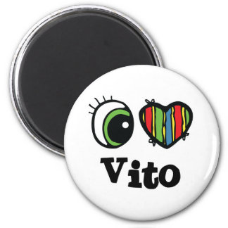 I Love (Heart) Vito 6 Cm Round Magnet