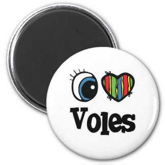 I Love (Heart) Voles Magnet